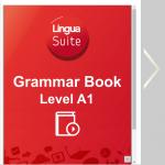 portada de la gramatica inglesa A1 con los colores de LinguaSuite