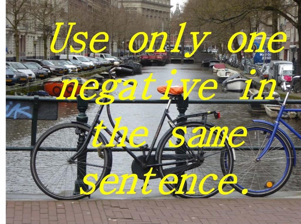 bicicletas en Amsterdam con la regla gramatical