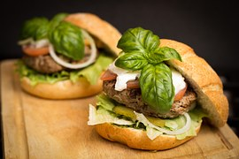 2 delicious hamburgers