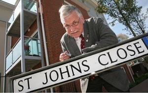 error en inglés en el nombre de la calle