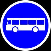 señal de carril de bus
