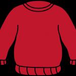 dibujo de un jersey rojo